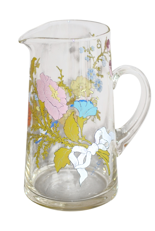 06 Glass Pitcher w-floral print