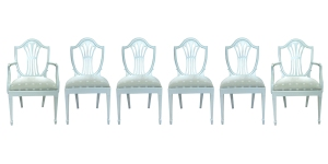 16 Set of 6 white chairs
