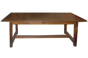 12 French oversized farm table w-stretcher2