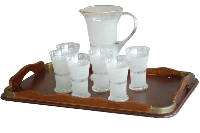 15 Vintage american lemonade set w-6 glasses 1 pitcher